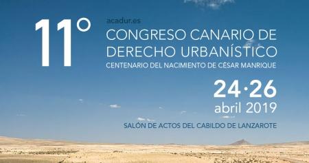 Cartel XI Congreso Canario de Derecho Urbanístico 'Paisaje: Perspectiva, recurso, conflicto'