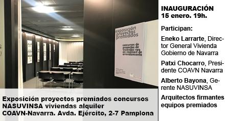 Exposición proyectos premiados concursos NASUVINSA viviendas alquiler